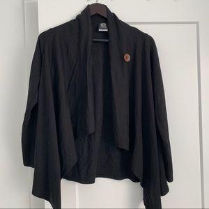 2/$25 - Bobeau One Button Fleece Wrap Cardigan.
